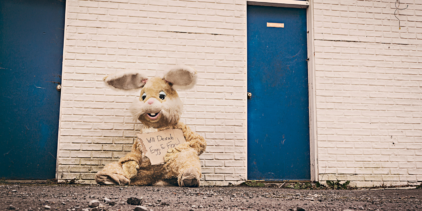 Image of a poor Easter Bunny